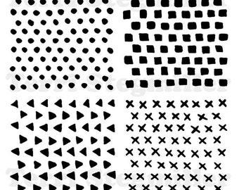 """Texture Quad 6x6"""" Stencil"""