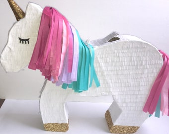 Unicorn Pinata Custom Pinata Unicorn Birthday Party Birthday Party for Girls Rainbow Unicorn Party Unicorn Theme Birthday Party