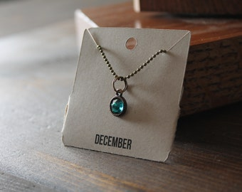 December Ball Chain Charm Necklace
