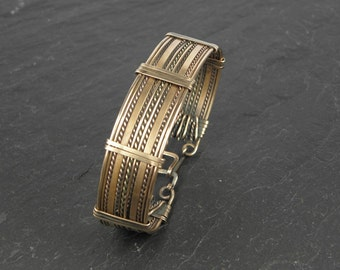 Men's Bracelet Baeleg woven in Bronze