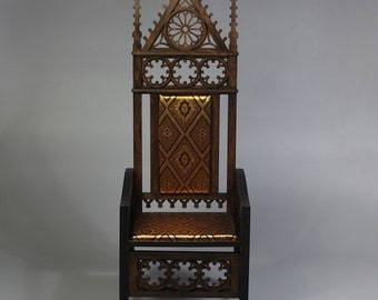 BJD Gothic Demountable Doll Armchair / Throne 1/3