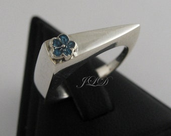 Forget-me-not, sterling silver ring