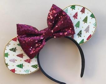 Christmas Tree Ear Headband