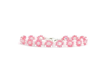 Rose Anklet - Child Ankle Bracelet - Kids Anklet - Children's Jewelry - Pink Anklet - Daisy Chain Anklet - Girls Jewelry