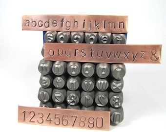 Huge 8mm 5/16 Lower Case Metal Alphabet stamps, letters and numbers, monogramming stamping, large letter ser, excellent quality.