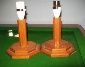 1940s original homemade table light stands
