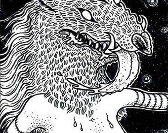 She-Creature - Original Drawing