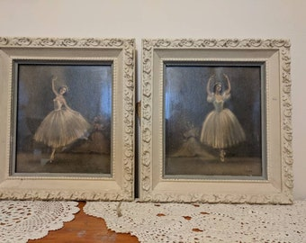 Vintage Ballerina plaques, upcycled. Free shipping!  #51184