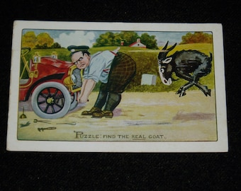 Antique Vintage Postcard 5, Artist Signed, C. Ryan, Puzzle Series