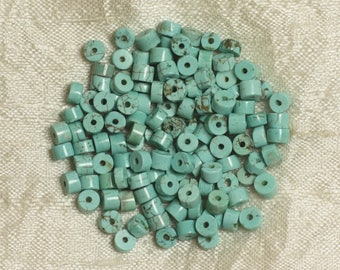 20pc - beads Turquoise synthetic - 5x2mm blue Turquoise Rondelles - 4558550034274