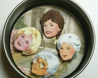Golden Girls Pin Set - includes Dorothy, Blanche, Rose and Sophia