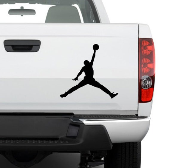 Michael jordan basketball silhouette custom size and color