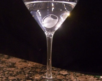 Etched Shaken, Not Stirred Martini Glass by Jackglass on Etsy