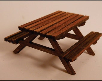 Quarter (1:48) scale Miniature Picnic Table Kit