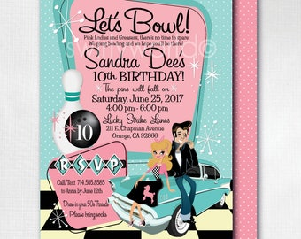 1950s invitation Etsy