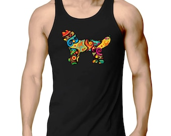 Psychedelic Goldendoodle Tank Top
