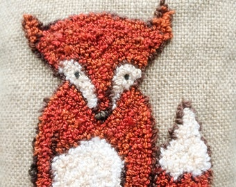 Pattern Little Fox Needle Punch or Rug Hooking