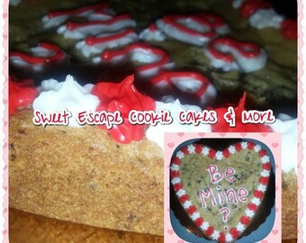 """Heart Shape Cookie Cake  """"Not Just For Valentine's Day"""""""