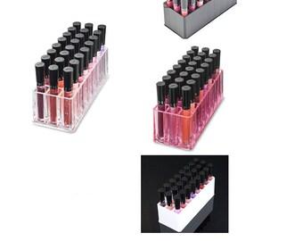 Acrylic Lip Gloss Makeup Organizer  24 Spaces
