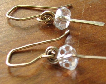 Gold Hermosa Rock Crystal Drops Earrings