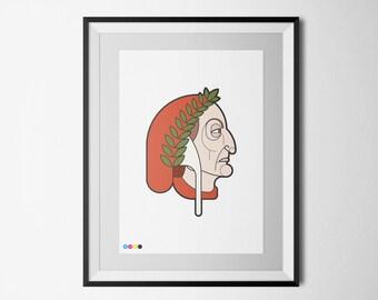 Art Print - Dante Alighieri - Profile Portraits