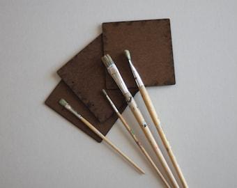 Set of 3 Wood Squares | Wood Crafts | Craft Supply | DIY Crafts | Primitive Patterns | Masonite