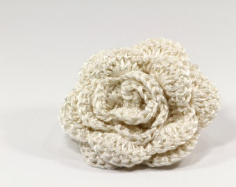 PDF Crocheted Flowers Pattern Hand crocheted Flower Tutorial, , DIY Flower Ornament
