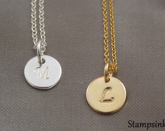 Initial Necklace, Personalize Woman, Monogram Necklace Teen, Personalize Necklace, Initial Necklace Silver, Name Tag Necklace, Stampsink