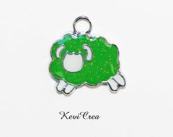 1 x charm enamelled Zodiac - Aries sign