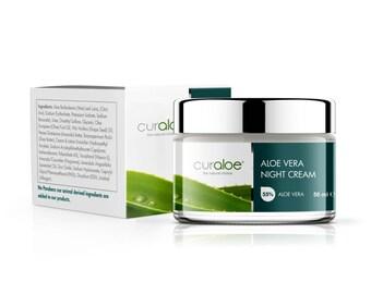 Aloe Vera Night Cream with 55% Organic Aloe Vera