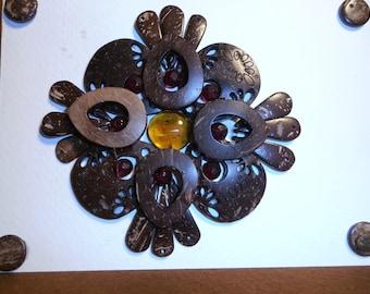 Filgree Coconut Shell Greeting Card!!!