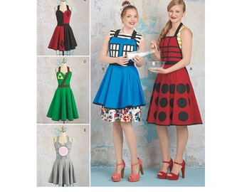 Cosplay Aprons Sewing Patterns - Simplicity 8279 -Misses' Creative Aprons Sizes: S (10-12) - M (14 -16) - L (18-20) New UNCUT