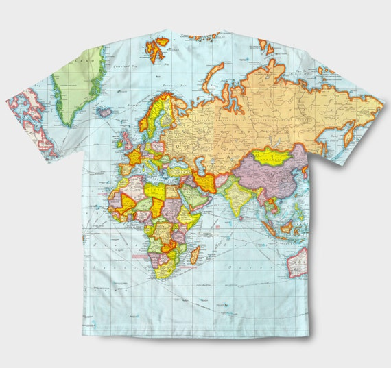 World map full printed shirt all over printed shirt globe like this item gumiabroncs Images