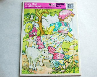 Puzzle - Vintage Mary Had a Little Lamb Frame Tray Puzzle