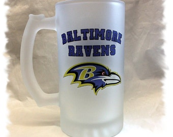 Baltimore Ravens Frosted 16 ounce Beer Mug