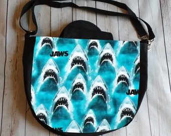 Jaws Cross Body Purse Messenger Bag