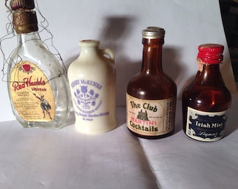 Vintage mini liquor bottles