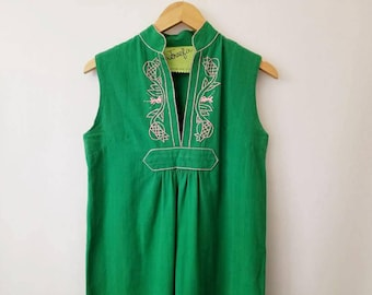 Vintage Ethnic Tunic Embroidered Dress