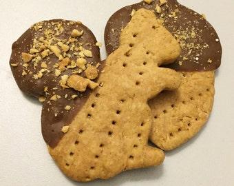 Squirrel & Acorn Shaped Cookies for Dogs - All Natural - Dog Treat -  2 treats - Fall - Autumn Seasonal Shape - Carob