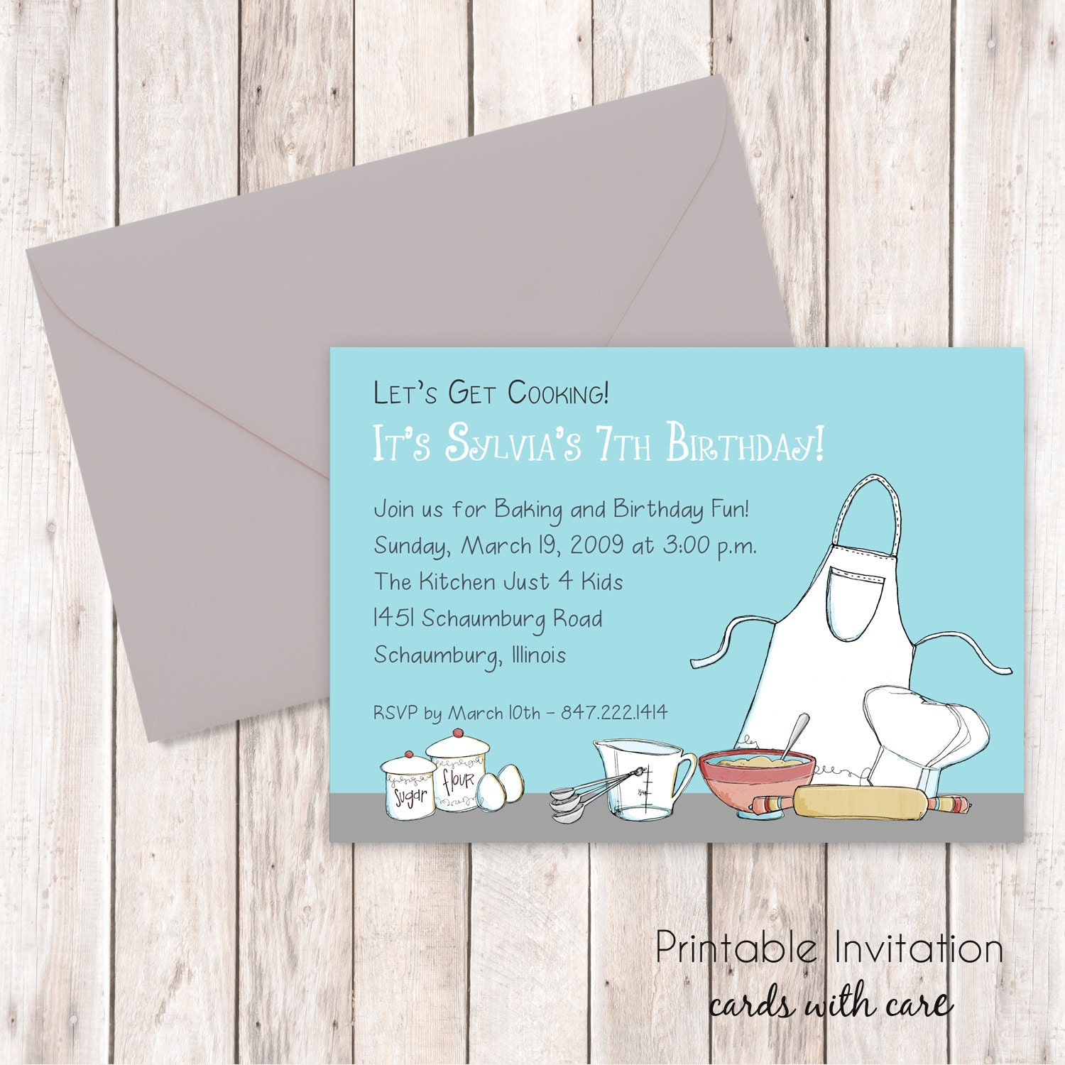 Cooking party invitation printable invitation custom zoom stopboris Image collections
