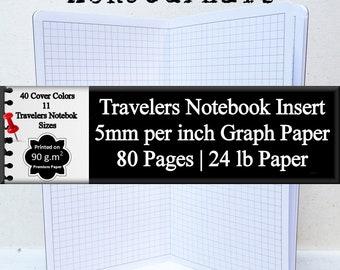 Travelers Notebook Insert 5mm Graph Paper Bullet Journal To Do List Planner Insert Blank Journal Notebook Bullet List Daily Planner