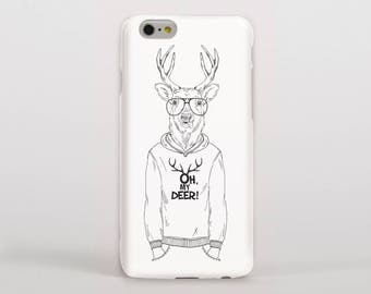 Stag/Deer Man Wearing a Jumper 'Oh My Deer' Hipster Phone Case/Cover for iPhone Case/Cover or Samsung Phone Case/Cover - FREE UK Delivery