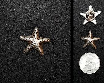 Hand Cast Tiny Starfish 1 inch Lapel Pin