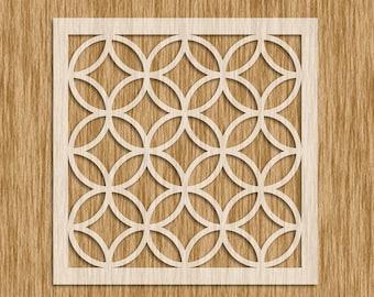 "Art Deco Tile Design Pattern Stencil - Sku PAD0104 (8.5"" x 8.5"")"