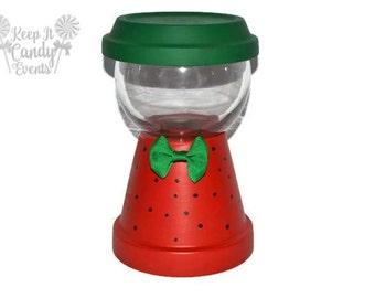 Strawberry Theme Faux Gumball Machine Centerpiece, Gumball Machine Decoration, Faux gumball machine, birthday centerpiece, Watermelon Theme