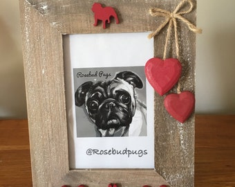Bespoke British Bulldog Wooden Photo Frame