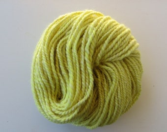 Hand Spun Yarn Alpaca and Merino 120 yards, Natural Dyed Yarn with Golden Rod Flowers, Bulky 2 ply 8.9 oz
