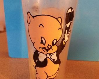 Vintage Porky Pig Pepsi 1973 glass