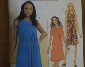 Butterick B5349, sizes 6-12, A-line dress, UNCUT sewing pattern, craft supplies