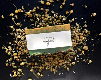 Exfoliating soap with chamomile and Rosemary